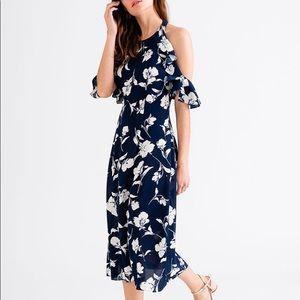Petite Studio Linnea Navy Floral Dress w/ Ruffles